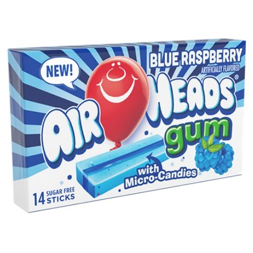 Airheads Gum Blue Raspberry - 12 CT