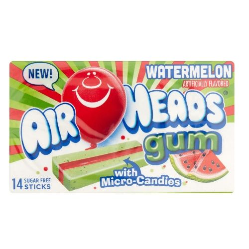 Airheads Candy Watermelon Sugar-Free Chewing Gum