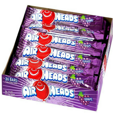 Airheads Taffy Candy Bars - Grape