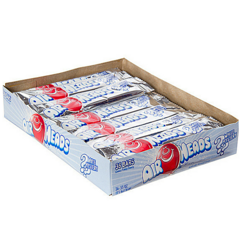 Airheads Taffy Candy Bars - White Mystery