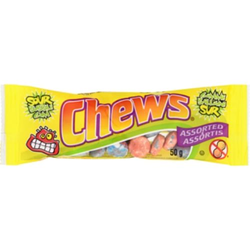 Assorted Chews Sour Gum Retro Canadian Candy