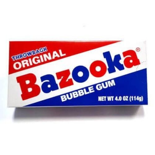 Bazooka Throwback Original Bubble Gum Theater Box - 4 oz.