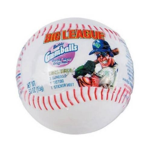 Big League Bubble Gum Baseball - 12 Count