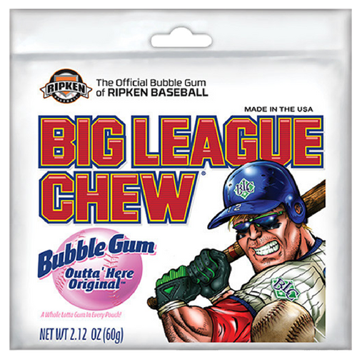 Big League Chew Original Outta Here Bubble Gum-Retro Candy