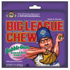 Big League Chew Ground Ball Grape-Retro Bubble Gum