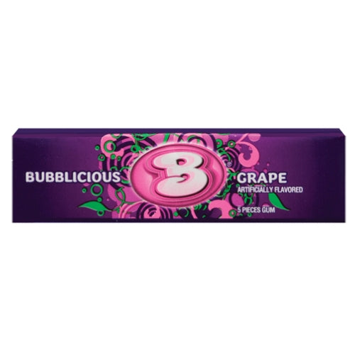 Bubblicious Grape Bubble Gum 5-Piece Packs