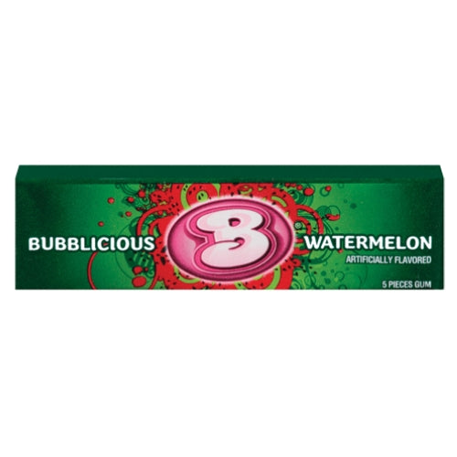 Bubblicious Watermelon Bubble Gum 5-Piece Pack