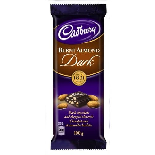 CADBURY DAIRY MILK Burnt Almond Dark Chocolate Bars Canada