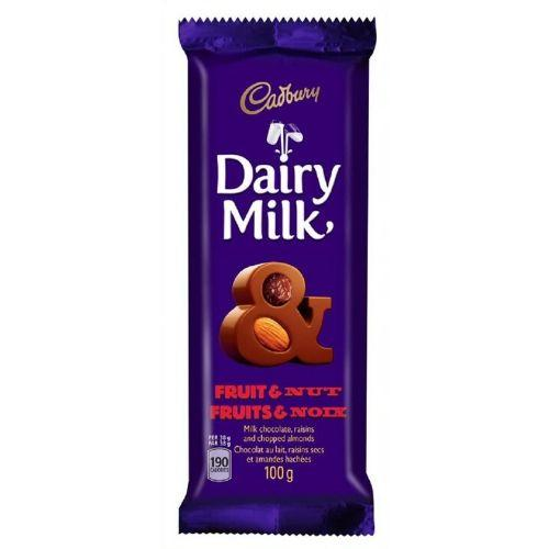 Cadbury Dairy Milk Fruit & Nut-Canadian Cadbury Chocolate Bars