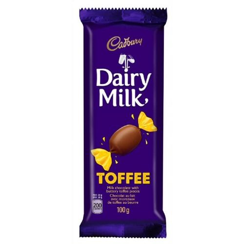 Cadbury Dairy Milk Toffee Canadian Chocolate Bars