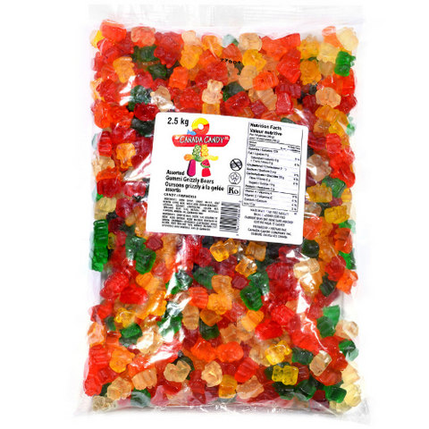 Canada Candy Co. Gummy Grizzly Bears-2.5 kg