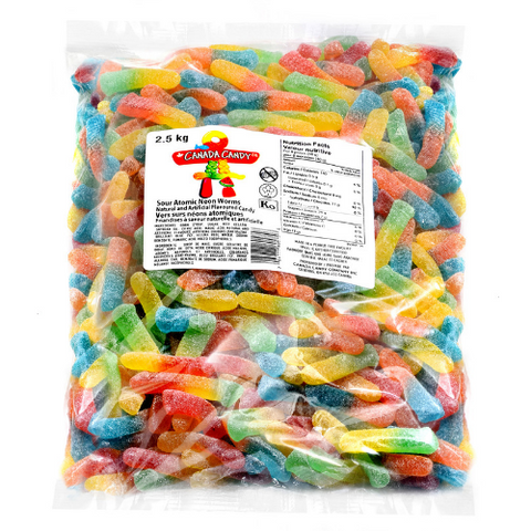 Canada Candy Co. Sour Atomic Neon Worms-2.5 kg