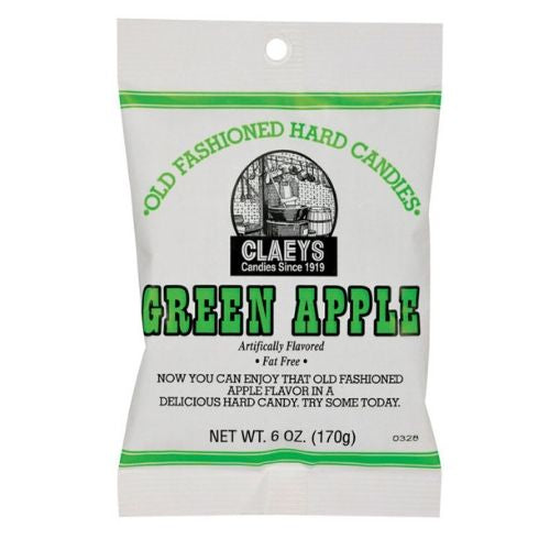 Claeys Green Apple Old Fashioned Hard Candies
