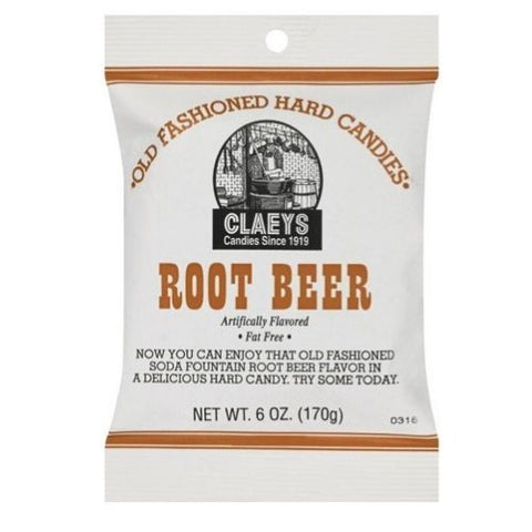 Claeys Root Beer Old Fashioned Hard Candies-6-oz.