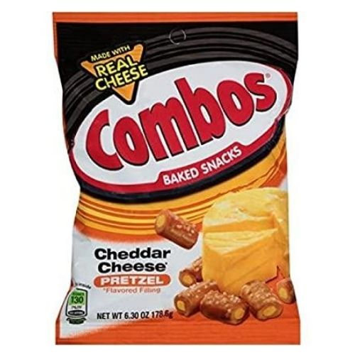 COMBOS Cheddar Cheese Pretzel Baked American Snacks- 6.3 oz.