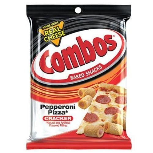 COMBOS Pepperoni Pizza Cracker Baked American Snacks-  6.3 oz.