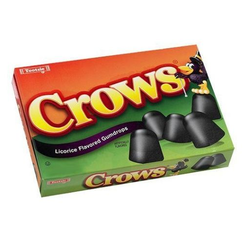 Crows Licorice Flavored Gumdrops Theater Box-Old Fashioned Candy