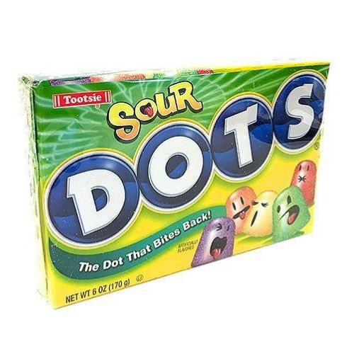Dots Sour Fruit Flavored Gum Drops Theater Packs