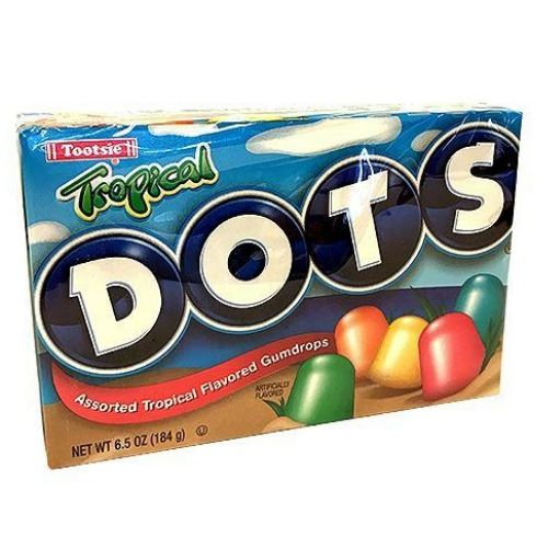 Dots Tropical Fruit Flavored Gum Drops Old Fashioned Candy
