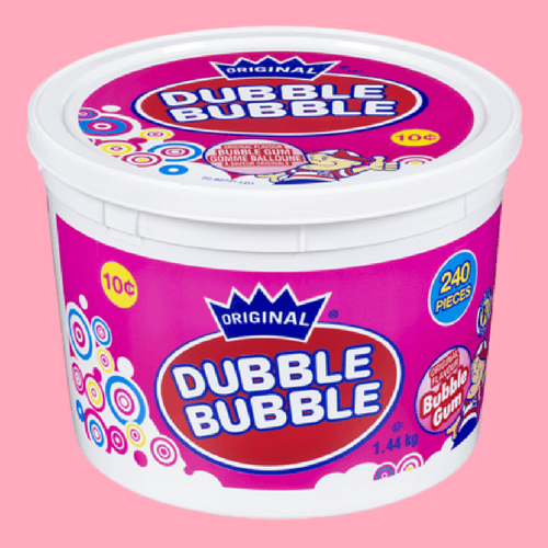 Dubble Bubble Gum Tub-Retro Candy