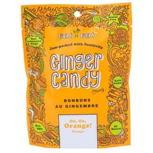 Gem Gem Oh, Oh, Orange! Ginger Candy - 100 g