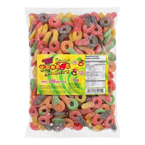 Gummy Zone Sour Tongue Tinglers-250 Pieces Gummy Candy