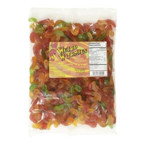 Gummy Zone Wacky Weird Gummy Worms-1kg