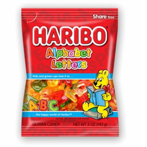 Haribo Alphabet Letters Gummy Candy