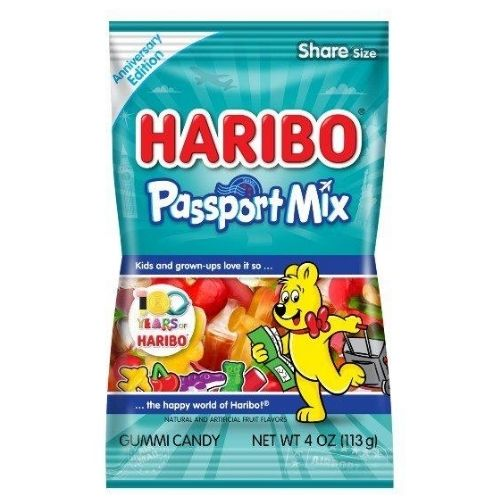 Haribo Passport Mix Gummi Candy - 4 oz