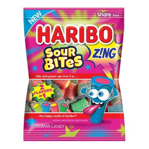 Haribo Sour Bites Zing Gummy Candy | New Candy