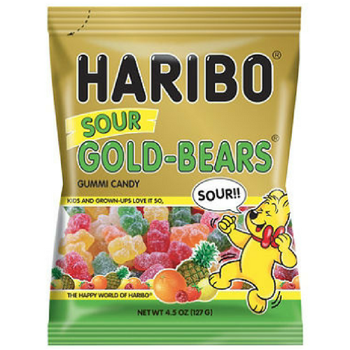 Haribo Sour Gold Bears Gummi Candy-Retro Candy