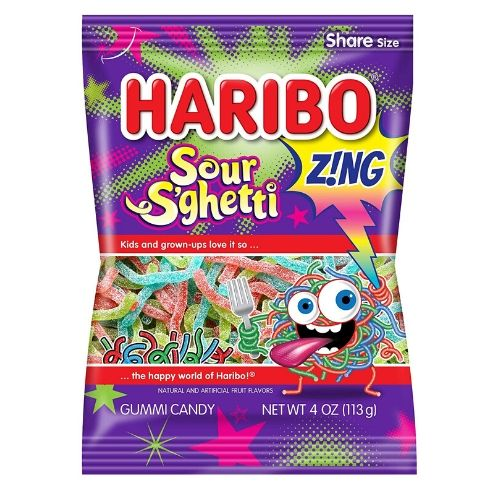 Haribo Sour S'ghetti Gummy Candy