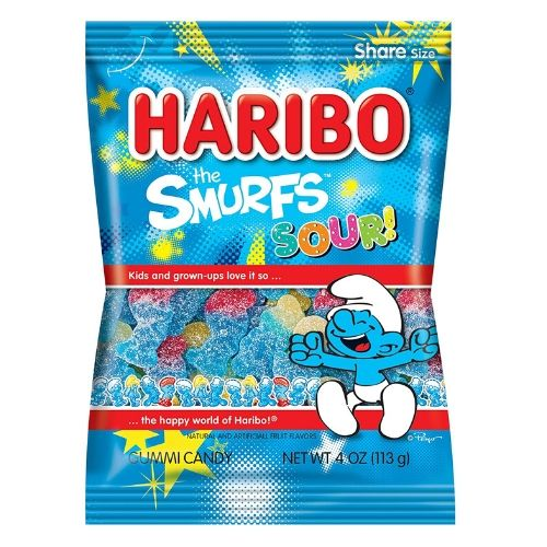 Haribo The Smurfs Sour Gummy Candy