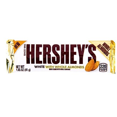 Hershey's White Creme With Whole Almonds - 41 g