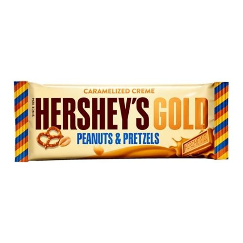 Hershey's Gold Peanuts & Pretzels in Caramelized Creme - 1.4 oz