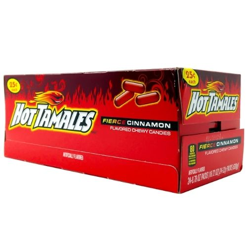Hot Tamales Fierce Cinnamon Chewy Candies - 24 Count