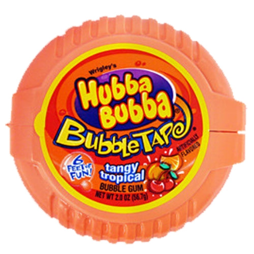 Hubba Bubba Tangy Tropical Bubble Tape Bubble Gum