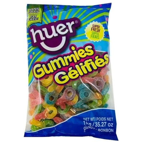 Huer Sour Suckers Gummy Candy - 1 kg
