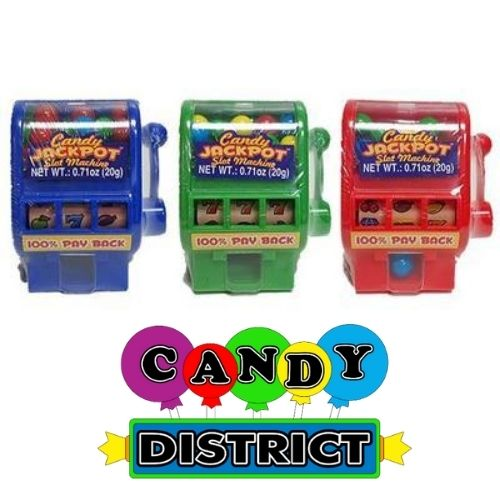 Kidsmania Candy Jackpot Slot Machine Gumball Dispenser
