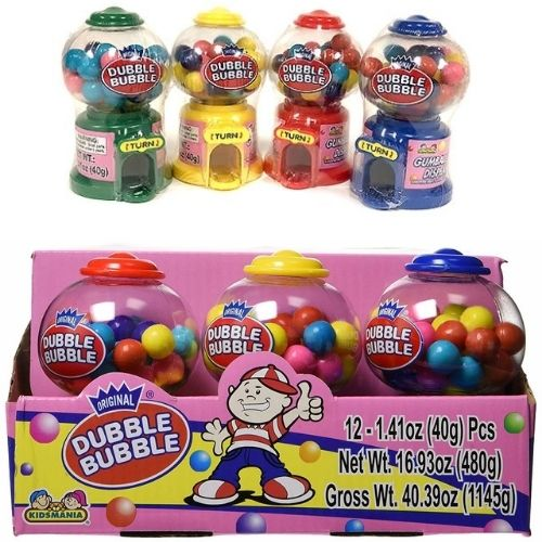Kidsmania Dubble Bubble Mini Gumball Dispenser - 12 Count