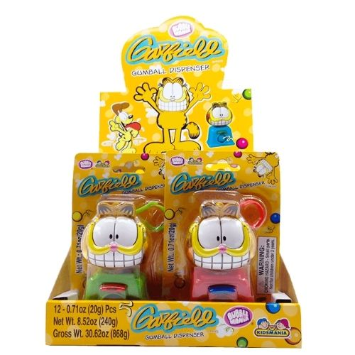 Kidsmania Garfield Bubble Gum Dispenser - 12 Count