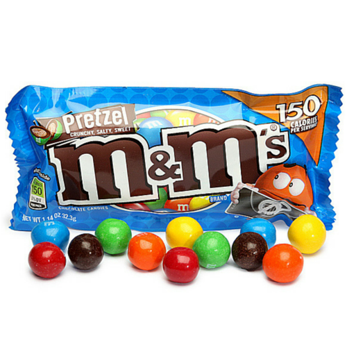 M&M Candy-Pretzel Chocolate Candies by Mars-Retro Candy
