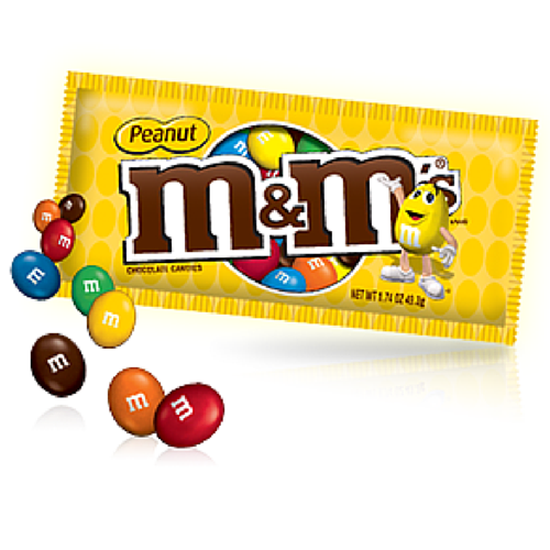 M&M Candy- Peanut Chocolate Candies by Mars