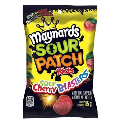 Maynards Sour Patch Kids Sour Cherry Blasters Candy 185 G Candy District
