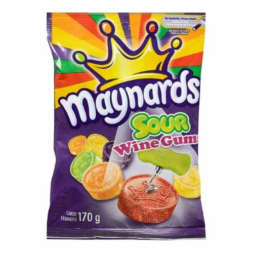 Maynards Sour Wine Gums Canadian Candy