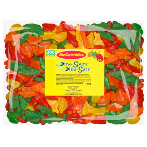 McCormicks Dino Sours Bulk Candy-Canadian Candies