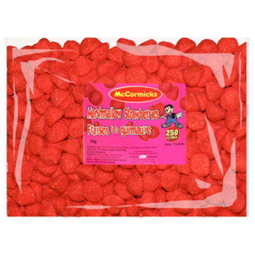 McCormicks Marshmallow Strawberries Bulk Candy-Canadian Candies