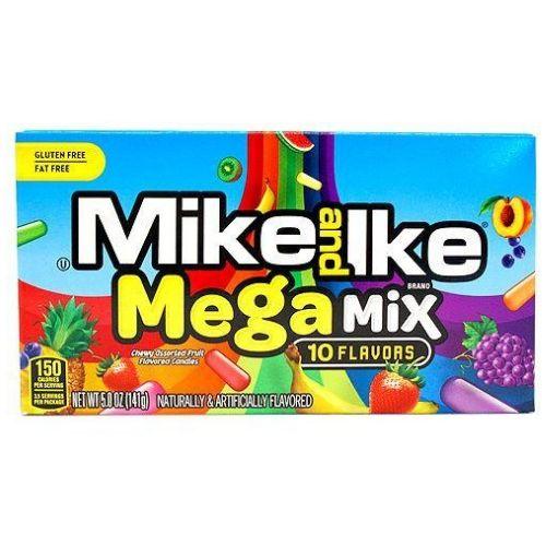 Mike and Ike Mega Mix 10 Flavors Chewy Candies Theater Box