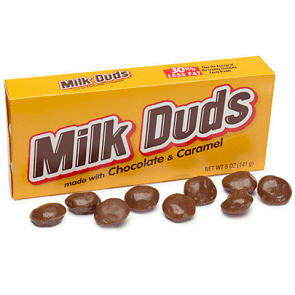 Milk Duds Chocolate Caramel Candy-Old Fashioned Candy