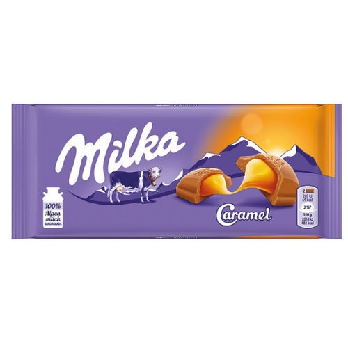 Milka Caramel Chocolate Bars-European Chocolate Made with Alpine Milk